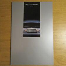 LINCOLN TOWN CAR 4.6 V8 Sedan USA American Market Brochure July 1990 for 1991
