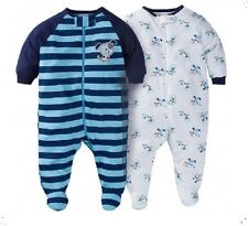 Gerber Boy 2-Pk Sleep 'N Play Puppies Zip Front Set Size 3-6M BABY CLOTHES GIFT