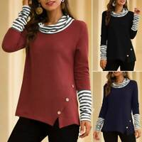Women's Long Sleeve Cowl Neck Tops Sweatshirt Ladies Casual Shirts Tee Blouse