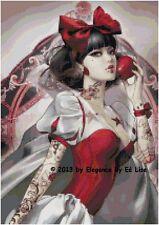 """""""Gothic Snow White"""" Fantasy Lady Cross Stitch Pattern CD"""