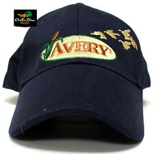 AVERY GREENHEAD GEAR GHG 12oz NAVY CANVAS BALL CAP HAT LOGO WITH DUCKS