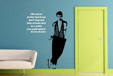 Ferris Bueller. Frase Arte Pegatinas Impresionante Pared Calco Vinilo Decoración