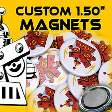 """1000 Custom Made 1 1/2 inch Round Button Magnets 1.50"""""""
