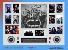 METALLICA MUSIC large SIGNED FRAMED LIMITED EDITION TO 499 with C.O.A