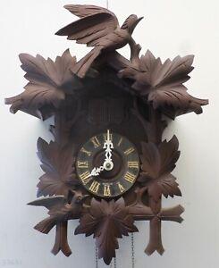 RARE ANTIQUE GERMAN BERG IMPORT BLACK FOREST 2 BIRD MUSICAL CUCKOO CLOCK PROJECT