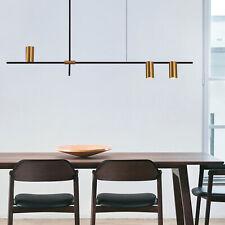 Modern Metal Minimalist Chandelier Hanging Ceiling Light Dining Room Cafe Lamp