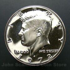 1972-S Kennedy Half Dollar -  Gem Proof Cameo U.S. Coin