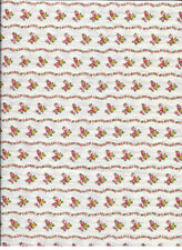 "New Yellow Pink Red Wavy Flower Stripe 100% Cotton Fabric 30"" x 42"" Piece"