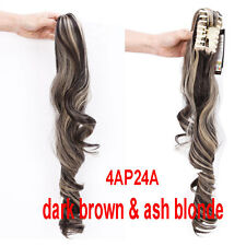 Long Thick Jaw Ponytail Hair Extensions Claw Clip in Pony Tail One piece curly