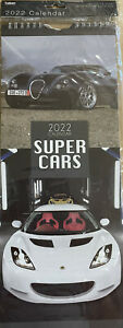 """""""SUPER CARS"""" 2022 MONTH TO VIEW CALENDAR WITH POSTAL ENVELOPE"""