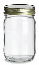 12 oz (360 ml) Jelly Jars (Econo Mayo Jars) with Gold Color Lids (Case of 24)