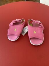 Polo Ralph Lauren Girl's Pink Sandals Size 3.5 UK Infants Brand New