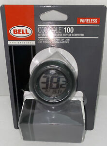 Bell Console 100 Wireless Bicycle Computer 8 Function 7025146 One Touch NEW