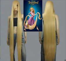 HOT! Disney Movie Tangled Rapunzel long blonde cosplay wavy wig 150cm