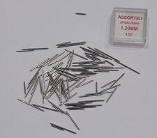 100 Assorted 8mm-22mm spring bars watch strap pins,bracelet bars
