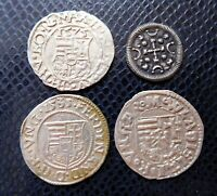 HUNGARY / 4 x MEDIEVAL SILVER COINS LOT 20./ 1100 -1600 years