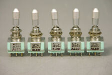 (5) ALCO MTL206N SAFETY LOCKING TOGGLE SWITCH DPDT ON-ON AIRCRAFT INSTRUMENT 6A
