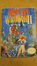 Dragon Warrior 2 NES Complete In Box, With Insert and Map