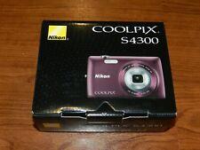 NEW in Box - Nikon COOLPIX S4300 Camera 16.0 MP Camera - PLUM - 018208263325