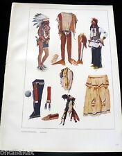 NATIVE AMERICAN INDIAN Costume Designs Print Kostumschnitte Gewandformen 1940s