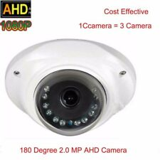 HD 1080P 2.0MP AHD Camera Security 180 Degree Fisheye IR Dome lens +OSD key