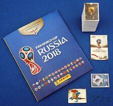 PANINI WC RUSSIA 2018, complete loose sticker set (670 version) + empty album