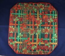 Set of 2 Holiday Christmas Red & Green Placemats