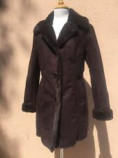 Michael Kors Faux Shearling Faux Suede Thick Warm Winter Coat Brown M $360