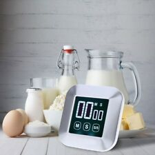 Cooking Timer LCD Digital Square Touch Screen Practical Alarm Clock Tool Kitchen