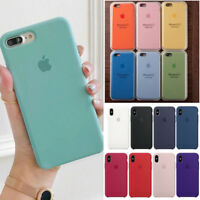 Original Silicone Case Silikon Hülle Fit For Apple iPhone X 8 7 Plus XR XS Max
