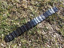 New 20mm PVD Black Heavy Stainless Steel Watch Bracelet fits Mens sport watch