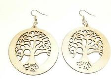LASER CUT WOODEN EARRINGS - TREE OF LIFE - 3 COLOURS - FREE UK P&P......CG1272-4