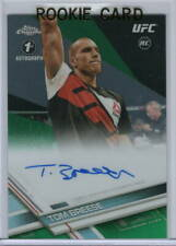 TOM BREESE Signed '17 CHROME UFC 1st AUTO /99 GREEN Refractor ROOKIE RC Gem Mint