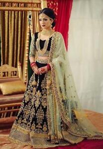 Bollywood Indian Lehenga Ethnic Wedding Bridal Party Wear Dress Lengha Choli rtc