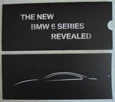 BMW 6 SERIES orig 2012 UK Mkt Preview Brochure in Sleeve - Coupe Convertible