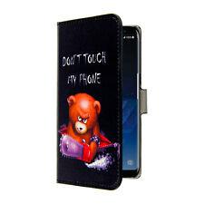Samsung Galaxy S8 Plus Custodia Cover Portafoglio Don't Touch my Phone +Pellicol