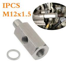 1/8'' NPT Steel Oil Pressure Sensor Tee For Turbo Supply Feed Line Gauge M12X1.5