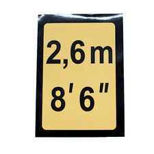 8'6 Black & Yellow Height Marking for Shipping Containers