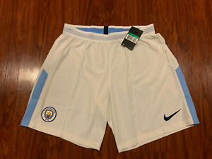 2017-18 Nike Mens Manchester City Home Player Issue Soccer Jersey Shorts XL