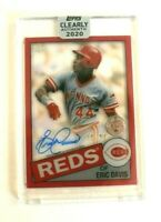 2020 Topps Clearly Authentic Eric Davis 1985 Design Red Auto 50/50 - Reds