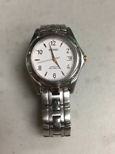 SEIKO KINETIC AUTO RELAY STAINLESS STEEL WATCH