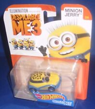 ILLUMINATION DESPICABLE ME 3 COLLECTOR HOT WHEELS CHARACTER CARS MINION JERRY #3