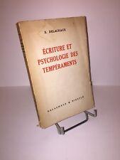 Ecriture et psychologie des tempéraments par Suzanne Delachaux
