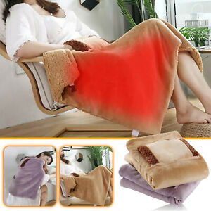 Heated Blanket Soft Electric USB Blanket Machine Washable For Home Travel Office