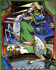 Wassily Kandinsky Art Horse Tumbled Marble Mural Backsplash Bath Tile #679
