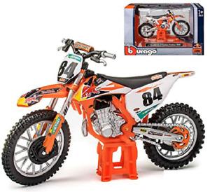 Jeffrey Herlings  KTM SXF 450 1:18 Die-Cast Motocross MX Toy Model Bike Orange