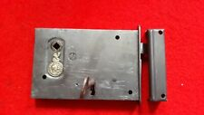 Antique iron ward mortice lock, by James Tildesley , Patenee, working.