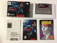 Castlevania Dracula X Super Nintendo SNES CIB Complete
