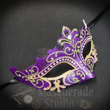 Womens Mardi Gras Festival Venetian Masquerade Mask with Rhinestones