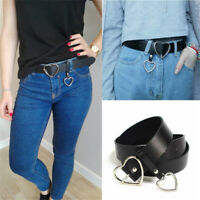 PU Leather Belt Metal Heart Buckle Corset Belt Ladies Belts Streetwear Decor